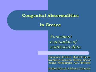 Congenital Abnormalities in Greece