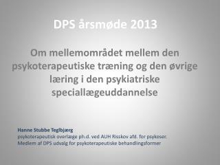 DPS årsmøde 2013