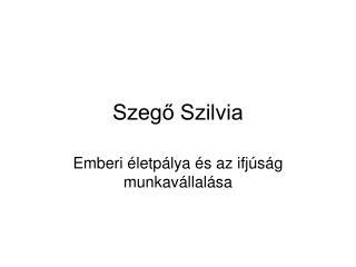 Szegő Szilvia
