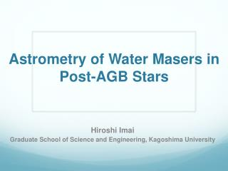 Astrometry of Water Masers in Post-AGB Stars