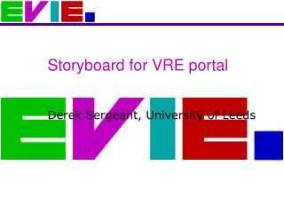 Storyboard for VRE portal