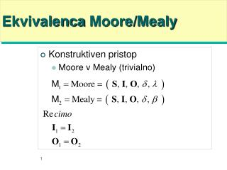 Ekvivalenca  Moore/Mealy