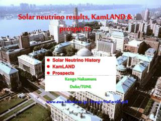 Solar neutrino results, KamLAND & prospects