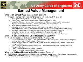 What is an Earned Value Management System?