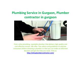 plumbing service in gurgaon