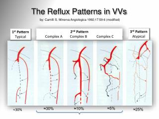 The Reflux Patterns in  VVs