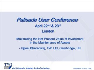 Palisade User Conference