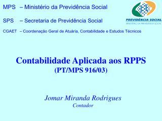 Contabilidade Aplicada aos RPPS PT