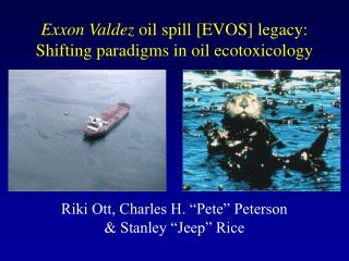 Exxon Valdez  oil spill [EVOS] legacy: Shifting paradigms in oil ecotoxicology
