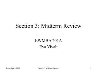 Section 3: Midterm Review