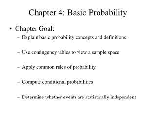 Chapter 4: Basic Probability