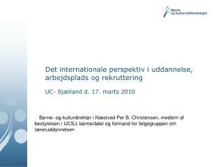 Jeg starter med konklusionen om kommunernes indsats vedr. internationalisering