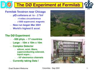 The D Ø Experiment at  Fermilab