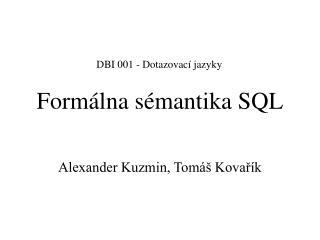 Formálna sémantika SQL