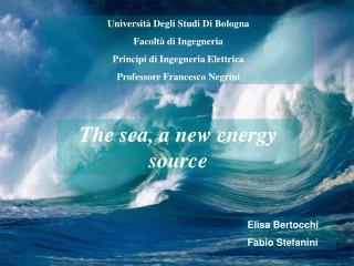 Università Degli Studi Di Bologna Facoltà di Ingegneria Principi di Ingegneria Elettrica