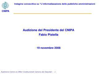 Audizione Comm.ne Affari Costituzionali Camera dei Deputati -   1