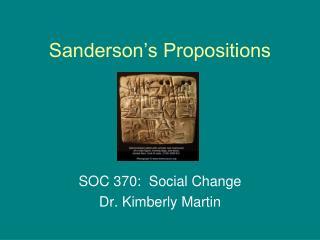 Sanderson's Propositions