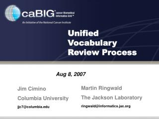 Unified Vocabulary Review Process