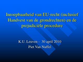 Inroepbaarheid van EU-recht (inclusief Handvest van de grondrechten) en de prejudiciële procedure