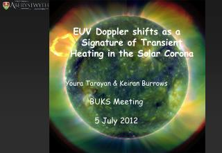 EUV Doppler shifts as a Signature of Transient Heating in the Solar Corona