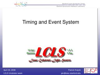 Timing and Event System
