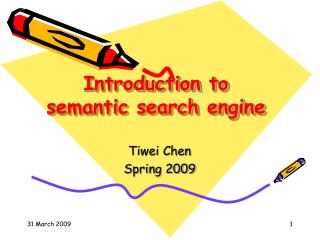 Introduction to  semantic search engine