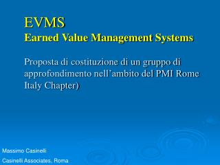 Massimo Casinelli Casinelli Associates, Roma