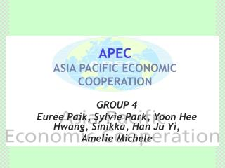 APEC ASIA PACIFIC ECONOMIC COOPERATION