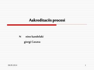 Aakreditaciis procesi