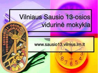 Vilniaus Sausio 13-osios vidurine mokykla