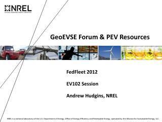 GeoEVSE Forum & PEV Resources