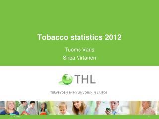 Tobacco statistics 2012