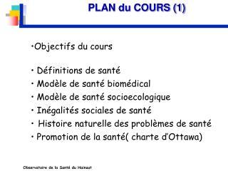 PLAN du COURS (1)