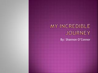 My Incredible Journey