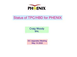 Status of TPC/HBD for PHENIX