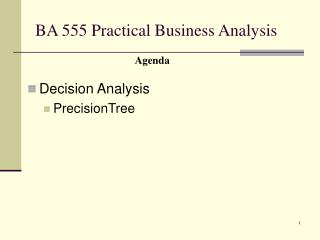 BA 555 Practical Business Analysis