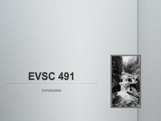 EVSC 491