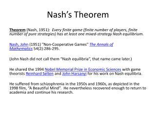 Nash's Theorem