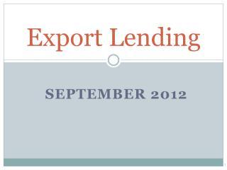 Export Lending