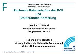 Joachim U. Knebel  Forschungszentrum Karlsruhe  Programm NUKLEAR