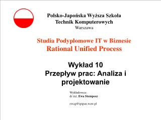Studia Podyplomowe IT w Biznesie Rational Unified Process