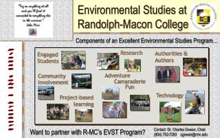 Environmental Studies at Randolph-Macon College