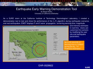 Up to 63 seconds of warning time to Caltech during the M w  7.8 ShakeOut Scenario!