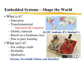 Embedded Systems – Shape the World