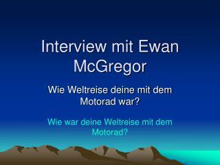 Interview mit Ewan McGregor