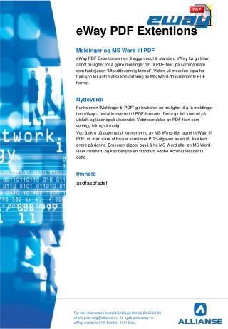 eWay PDF Extentions