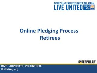 Online Pledging Process Retirees