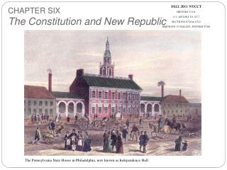 FALL 2011 NYCCT HISTORY 1110:  U.S. HISTORY TO 1877 SECTIONS 6750 & 6752