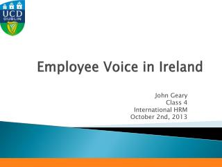 Employee Voice in Ireland