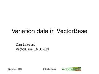 Variation data in VectorBase